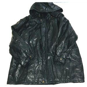 XXXL Long Leather Jacket by CW classics